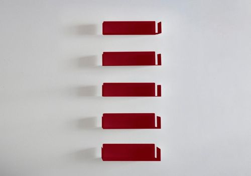 Bücherregal JUDD Rot - Satz...