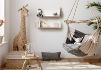 Design bookshelf for the Scandinavian style living room